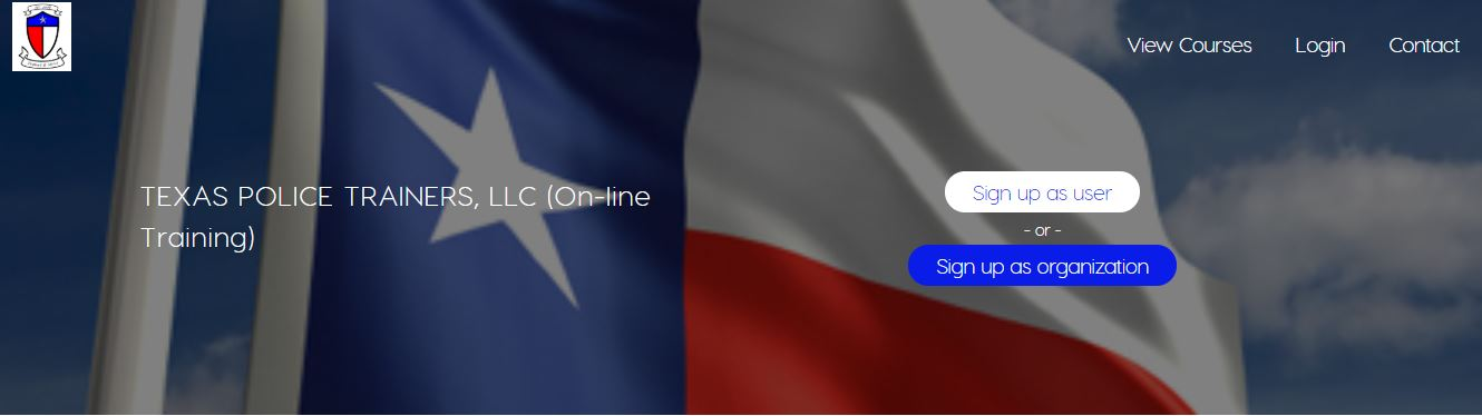 Texas Police Trainers Online Training